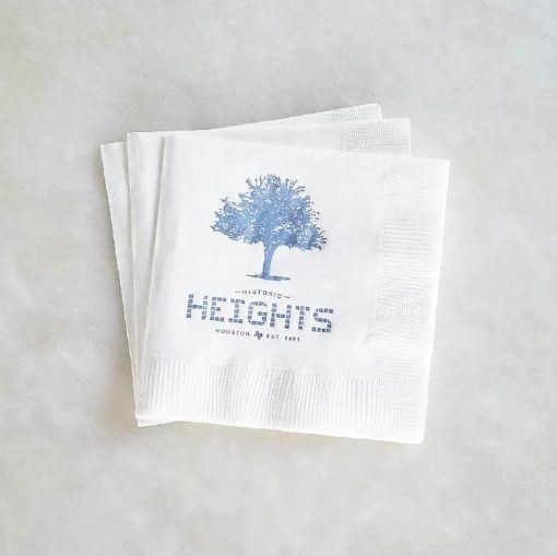 Houston Heights Tile - Tree Beverage Napkin