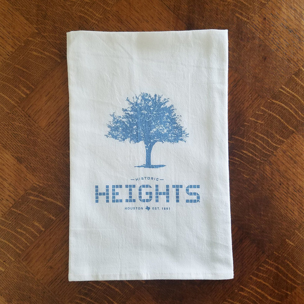 Heights Tile & Tree Flour Sack Kitchen Towel