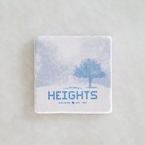 Houston Heights Tile - Street Marble Coaster