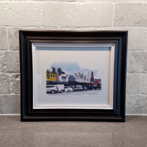 19th Street Shades of Color 8x10 framed