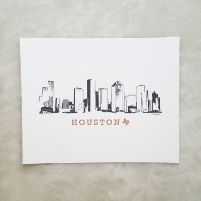Houston Skyline print
