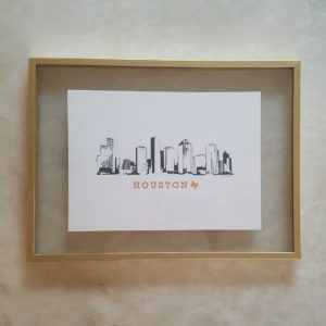 Houston Skyline framed