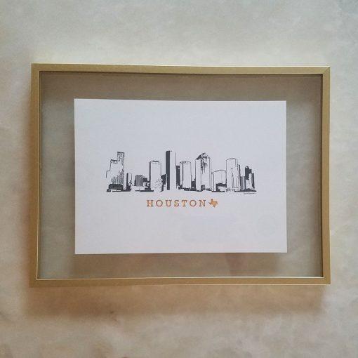 Houston Skyline framed