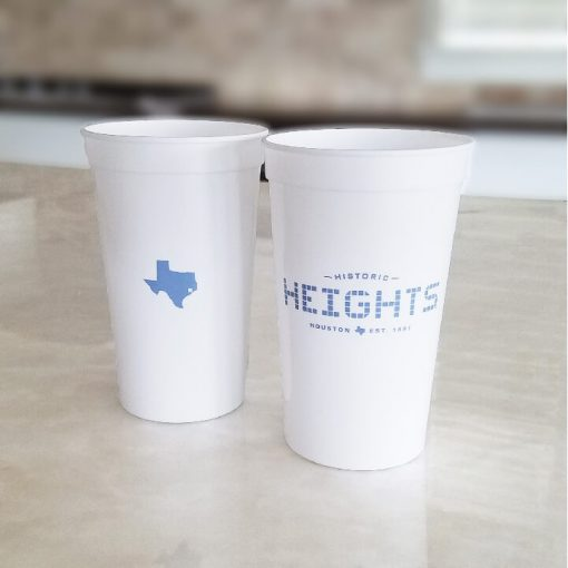 22 oz. Plastic Stadium Cup - Heights Tile - Texas