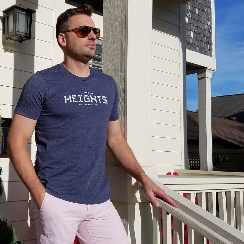 Heights T-shirt navy unisex