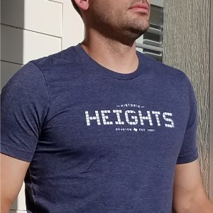 Heights T-shirt navy unisex close up