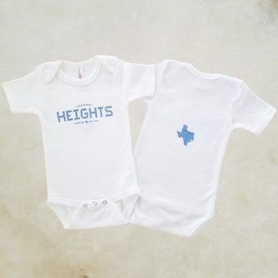 Heights Tile blue onesie