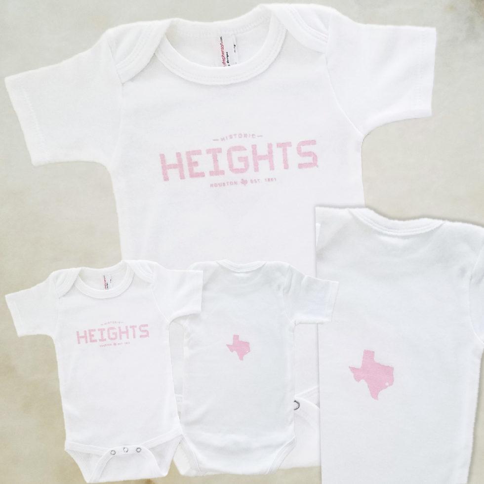 Heights Tile pink onesie