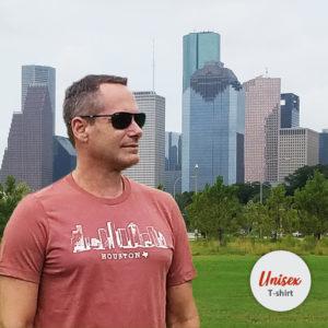 Houston Skyline Heather Clay t-shirt