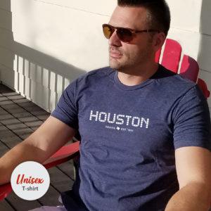 Houston Tile unisex t-shirt Heather Navy