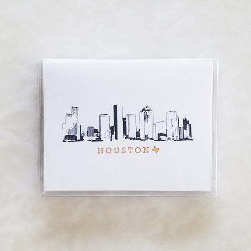 Note Cards - Houston Skyline box