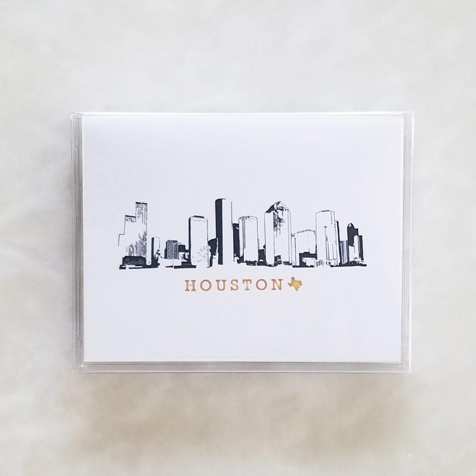 Note Cards - Houston Skyline box