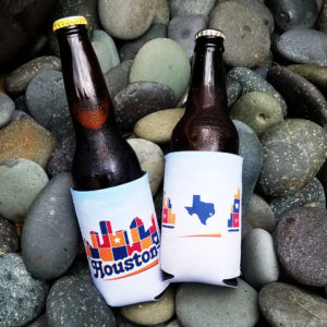 Houston Skyline Patchwork drink hugger