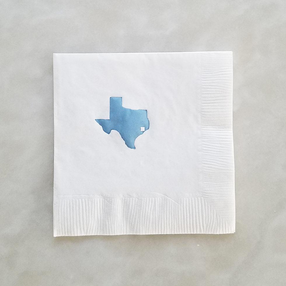 Beverage Napkin - Texas Tile