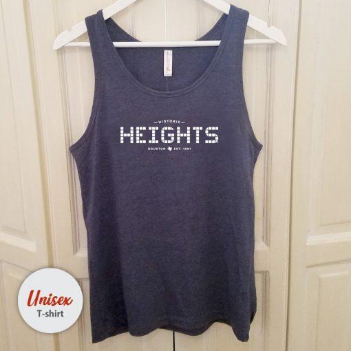 Heights Tile unisex tank Heather Navy