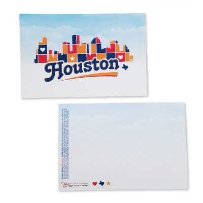 Houston Skyline Patchwork Post Card