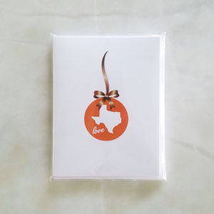 Note Cards - TX Holiday Love UT bronze