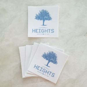 "Heights Tile & Tree 3"" in sticker"