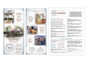 "Name & Logo | Brochure Rack Card, 4"" x 9"" | Durable, Poly Paper Menu, 8.5"" x 11"""