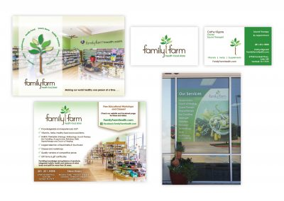 "Logo | Window Sign | Brochure Card, 5"" x 7"" | Business Card"