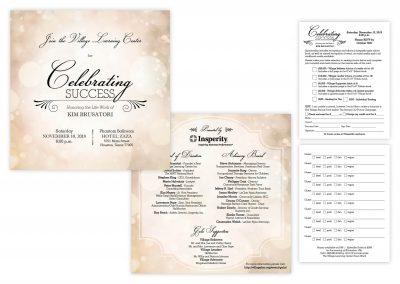 "Gala Invitation, 6"" x 6"" | Reply Card, 4.25"" x 5.5"""