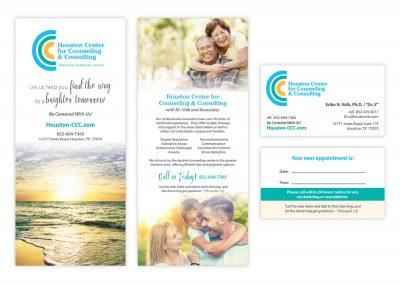 "Logo | Brochure Rack Card, 4"" x 9"" | Business Card"