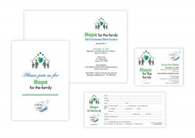 "Event Art & Branding | Folded Invitation, 5"" x 7"" | Flat Cards"