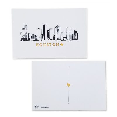 Houston Skyline Post Card