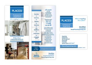 "Brochure Rack Card, 4"" x 9"" | Business Card"