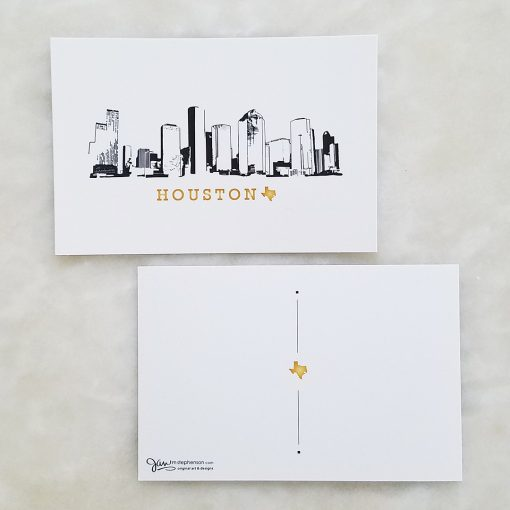 Postcard - Houston Skyline