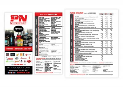 "Durable Poly Paper Menu, 8.5"" x 11"" | Brochure Rack Card, 4"" x 9"""
