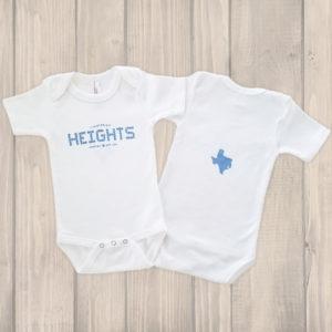 Houston Heights Tile onesie blue
