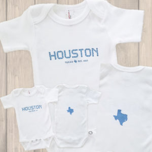 Houston Tile onesie blue