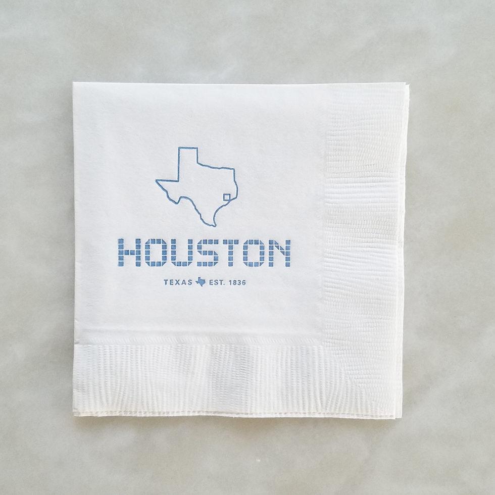 Beverage Napkin - Houston Tile