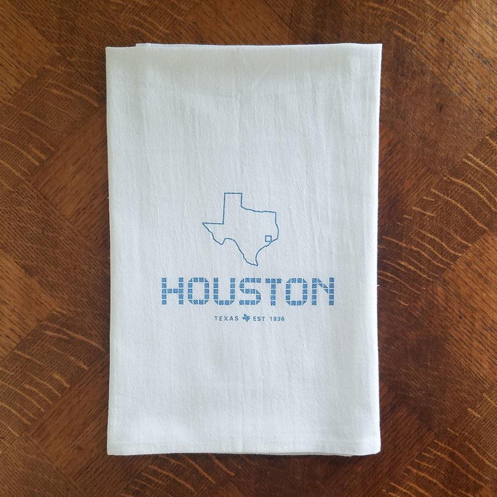 Houston Tile Flour Sack Kitchen Towel