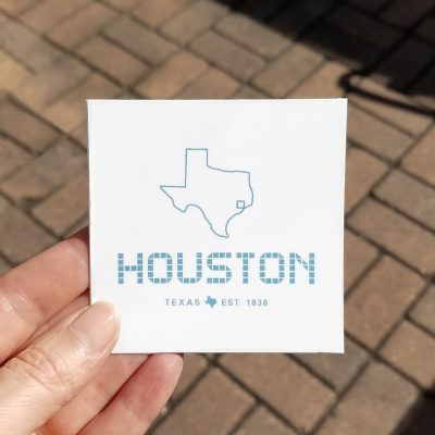 Houston Tile sticker 3 x 3