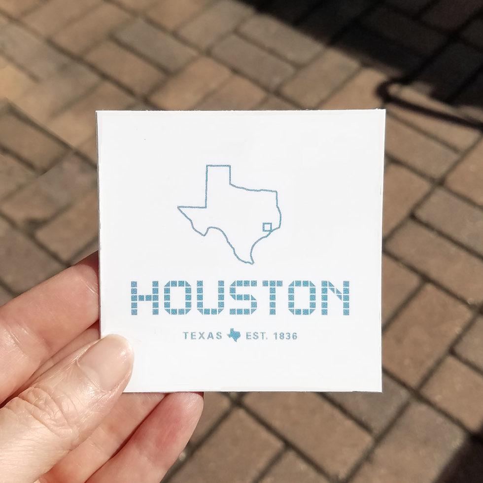 Houston Tile sticker 3 x 3