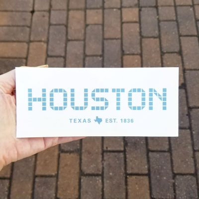 Houston Tile sticker 3 x 7