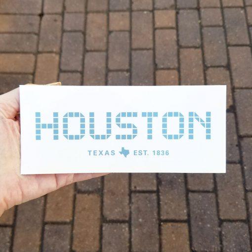 Houston Tile sticker 3 x 7