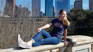Houston Skyline Patchwork tshirt
