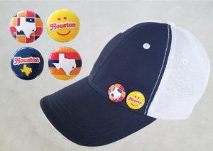 Houston Button Pins