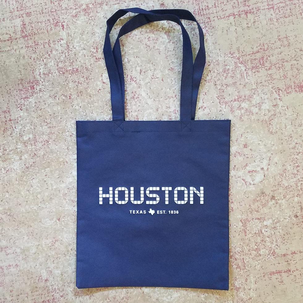 Non-Woven Tote - Houston Tile, navy