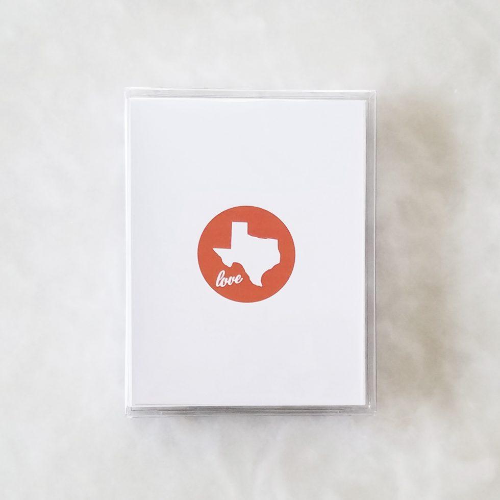Note Cards - Texas Love orange box