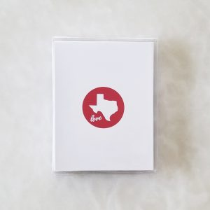 Note Cards - Texas Love red box