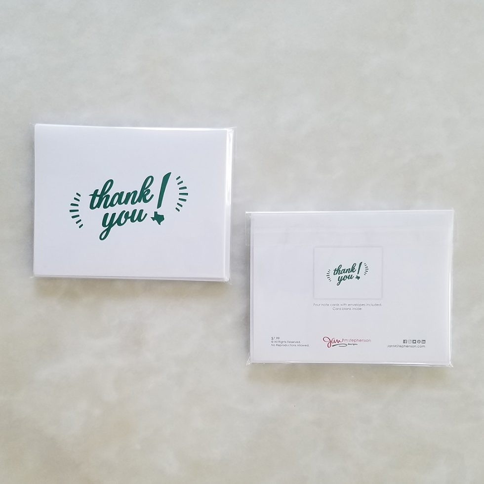 Note Cards - Texas Love, green