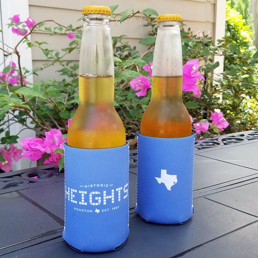 Houston Heights Tile drink hugger blue