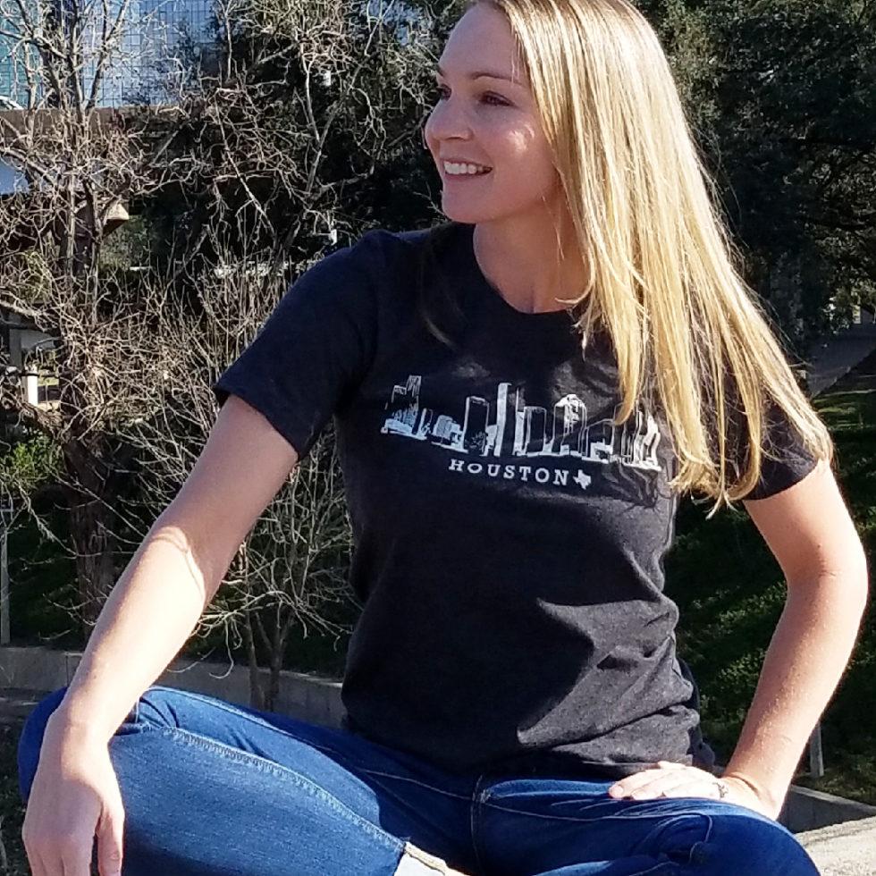 Houston Skyline Dark Heather Grey