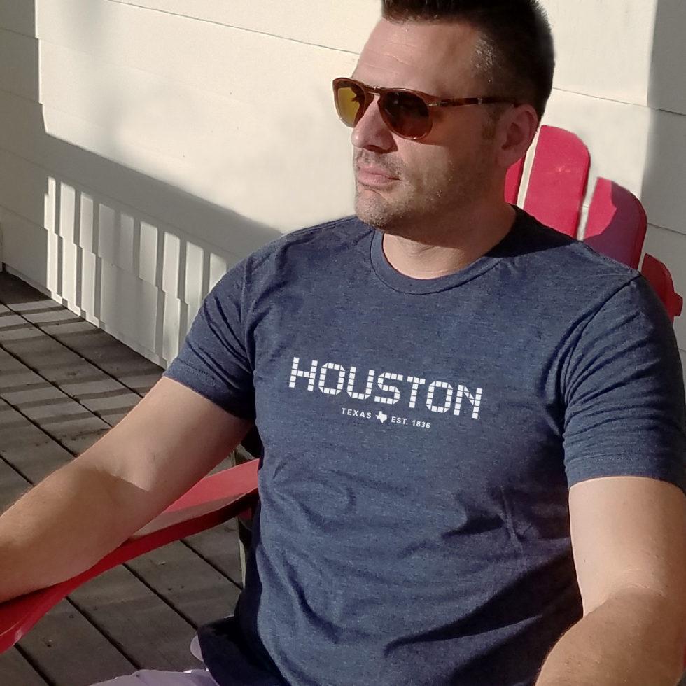 Houston Tile T-shirt unisex Navy