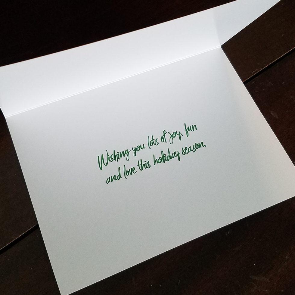 Texas Nutcrackers holiday card inside