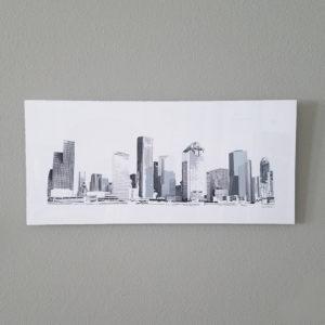 Houston Skyline Blues alum 26 x 12